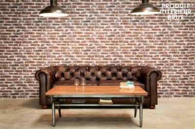 The Chesterfield sofa is a great addition to any shabby chic decor