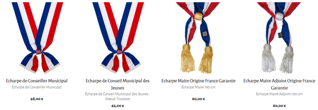 ECHARPE DE MAIRE – DRAGO PARIS